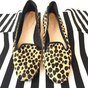 Clark's Chia Milly Leopard Calf Hair Flats Sz 8.5
